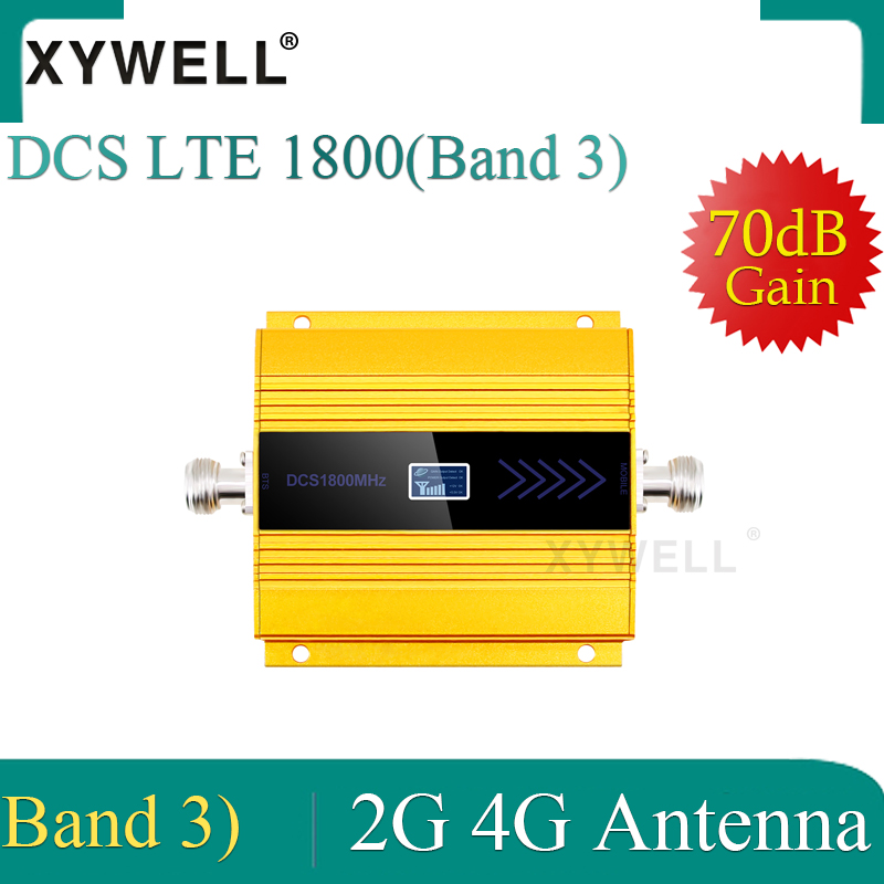 XYWELL 4g Signal Booster 1800 MHZ GSM Amplificador GSM 2g 4g Booster DCS 1800 Booster Mobile Phone Signal Amplifier Repeater