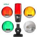 Luz indicadora sinal estroboscópio luz de advertência lâmpada pequena piscando luz alarme segurança 12 v 24 v 220 v led