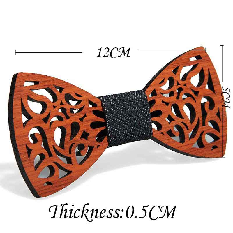 Hot Fashion Men's Wooden Bow Tie Accessory Wedding Party Christmas Gifts Bamboo Wood Bowtie Neck Wear For Men Women Cravat
