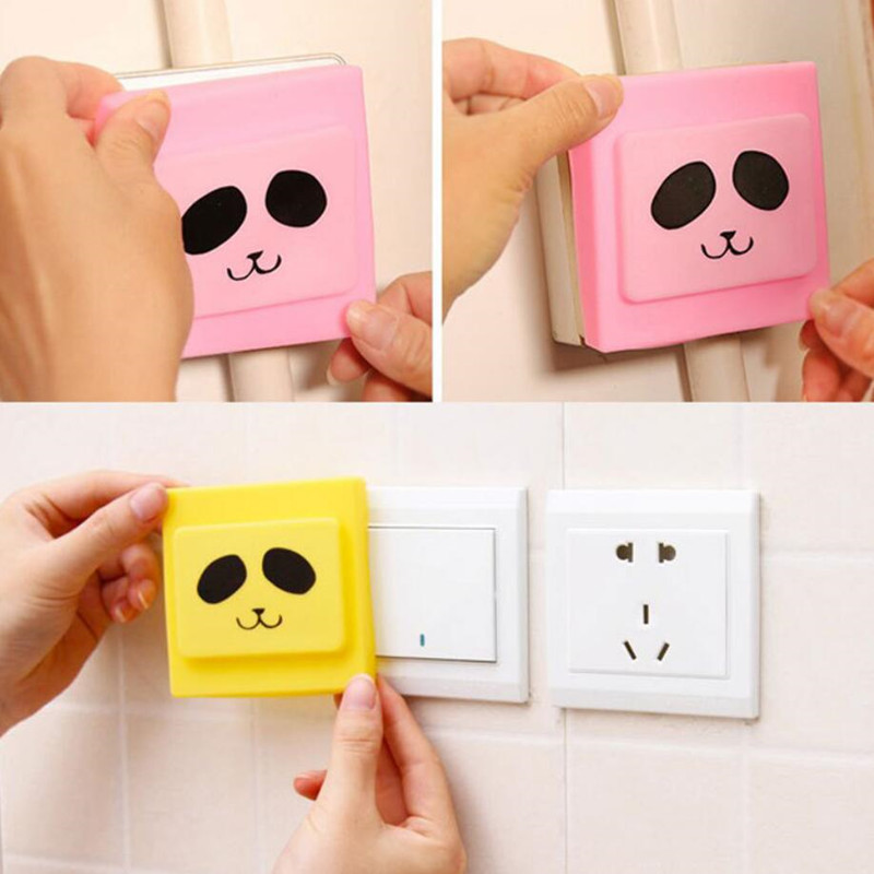 1pcs Safety Cover Switch Protection Cover Cartoon Waterproof Dustproof  Anti-electric Cover Children Electrical Protection Cover