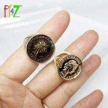 F. J4Z nuevo 2019 anillos de marca de diseñador para mujer parte superior de monedas anillos de dedo Vintage para damas joyas de mano regalos anillos de mujeres Dropship
