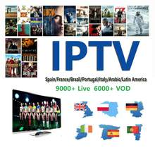 World IPTV m3u subscription 1 Year for portugal Spain France Italy USA dutch Iptv m3u Subscription for Smart TV Android Box(China)