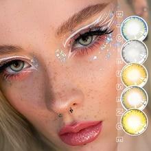 2 pcs/par olhos contato com a cor lentes anuais pro série miopia prescrição cosméticos olho cor lentes de contato bio-essência