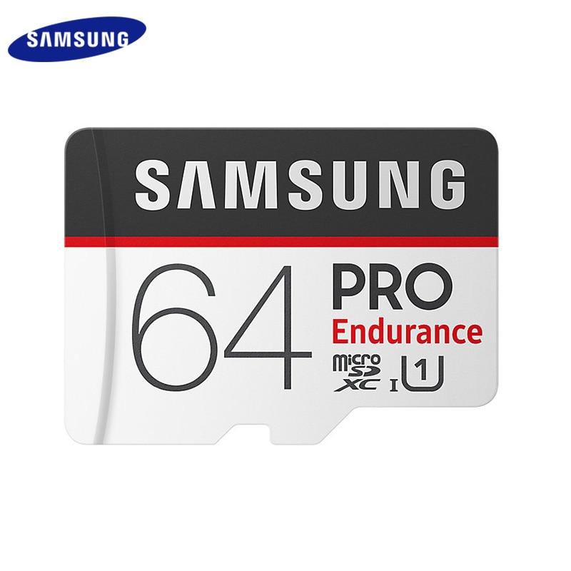 سامسونج الأصلي مايكرو SD بطاقة برو التحمل بطاقة الذاكرة SDHC 32GB 64GB 128GB SDXC الفئة 10 U1 عالية السرعة UHS I بطاقة ميكروسد TF بطاقات Micro SD    -