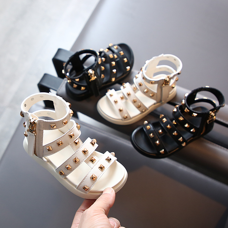 Summer Girls Children's Roman Sandals Willow Princess Soft Bottom Beach Shoes 1-3 Years Old Children's Shoes
