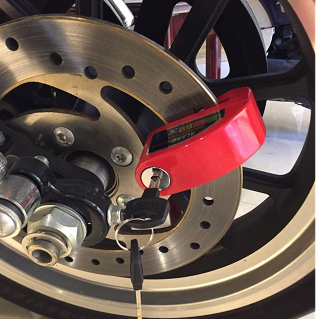 Anti-Theft Lock Wheel Brake Disc Pin Vespa 110dB 6mm Motorcycle Anti-Theft