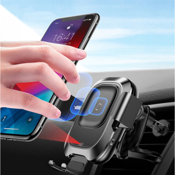 Baseus Car Phone Holder for iPhone Samsung Intelligent Infrared Qi Car Wireless Charger Air Vent Mount Mobile Phone Holder Stand 1