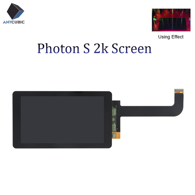 ANYCUBIC الفوتون S 2K LCD ضوء علاج وحدة شاشة عرض 2560x1440