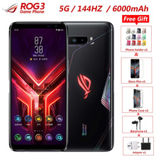 "Nuevo Asus ROG teléfono 3 5G de teléfono 6,59 ""12GB de RAM 128GB ROM Snapdragon 865/865 plus Octa Core 144Hz FHD + del teléfono móvil 6000mAh"