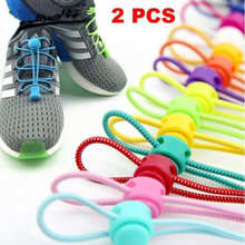 New 1 Pair Locking Shoe Laces Unisex Elastic Sneaker Shoelaces Sport Shoestrings Women Men Lazy Candy Color Shoelace Red Black(China)