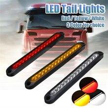 6PCS 15LED Car Tail Signal Lamp Truck Caravan Stop Brake Tail Reverse Light Vehicle Slim Line LED Strip Signal Lamp Accessories