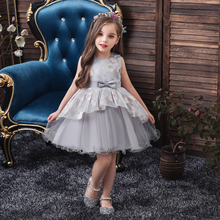 Vgiee  Kids Dresses for Girls Princess Dress Baby Little Clothing Mesh Flowers Party Girl CC609