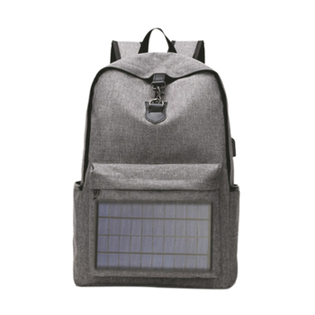 ABDB-Notebook Backpack Solar Backpack with Usb Charging Port Water Resistant Backpack for Hiking Camping Trekking Fishing 1