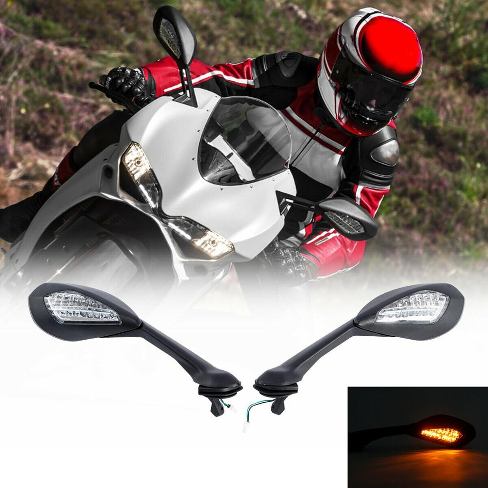 Motorcycle Rearview Mirror LED Turn Signal Light For Ducati 939 939 Supersport 2017-2019 2018
