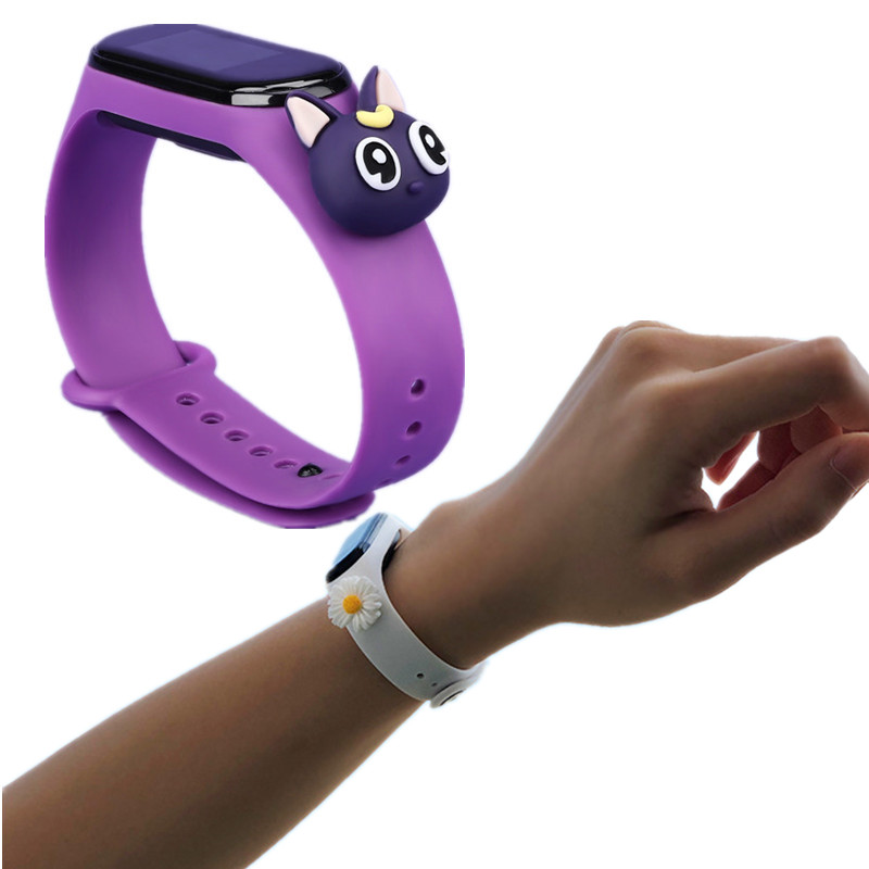 New 1PC For Cute Miband 4 Strap Replacement Silicone Mi 4 Band Straps Toy Mi Band 3 Strap For Xiaomi Miband 3/4 Band Accessories