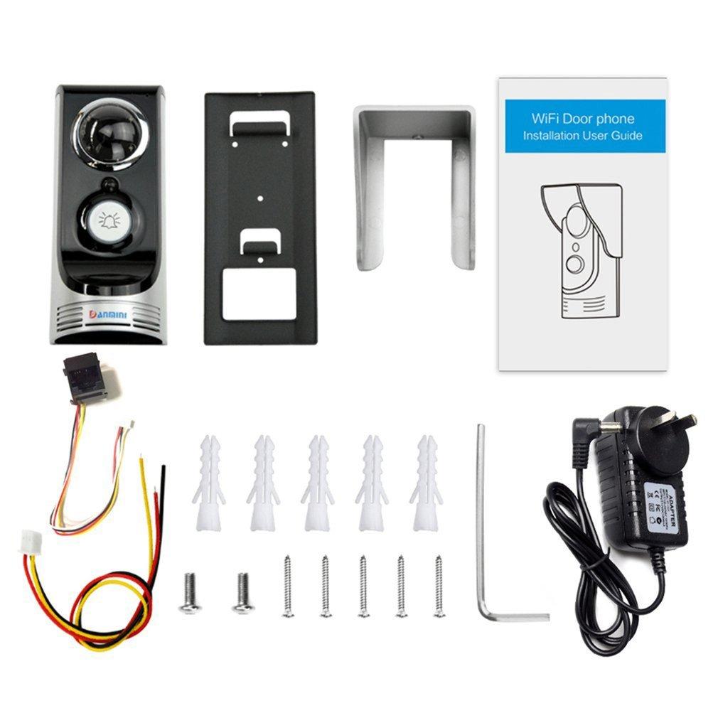 Professional Smart WIFI Wireless Doorphone Safe Guarding 3M 145 Degree Wide Angle Home Use Door Video Intercom Doorbell