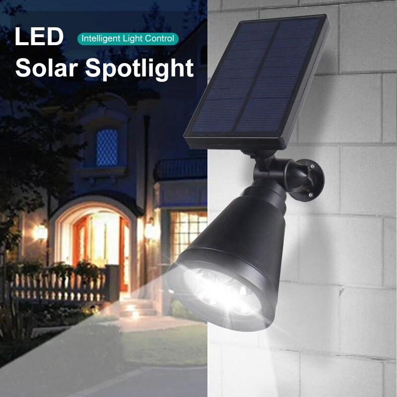 Led solar powered spotlight para jardim ao ar livre escadas de estrada paisagem lâmpada gramado à prova dwaterproof água enterrado decking luz com sensor luz