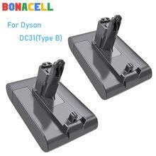 Bonacell 22.2V 4000Mah Li-Ion DC31 (Alleen Fit Type B) voor Dyson Batterij DC31 DC35 DC44 DC45 Serie Snoerloze Stofzuiger
