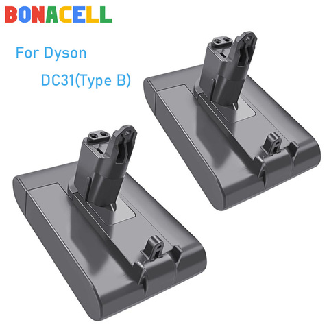 Apenas tipo de Ajuste Aspirador sem Fio b para Dyson Bonacell Li-ion Dc31 Bateria Dc35 Dc44 Dc45 Série 22.2 v 4000 Mah