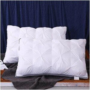 Image 2 - Down Feather Pillow Super soft White Duck/Goose Neck pillow Standard Antibacterial Elegant Home Textile Cotton Bedding Pillow