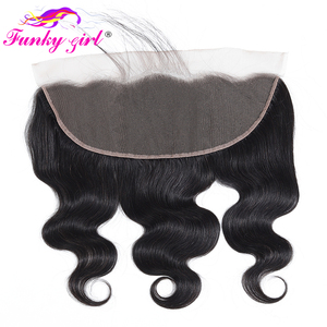 Image 4 - Funky Girl 3/4 bundles with frontal Peruvian Body Wave Human Hair Lace Frontal Closure With Bundles Non Remy Frontal With Bundle