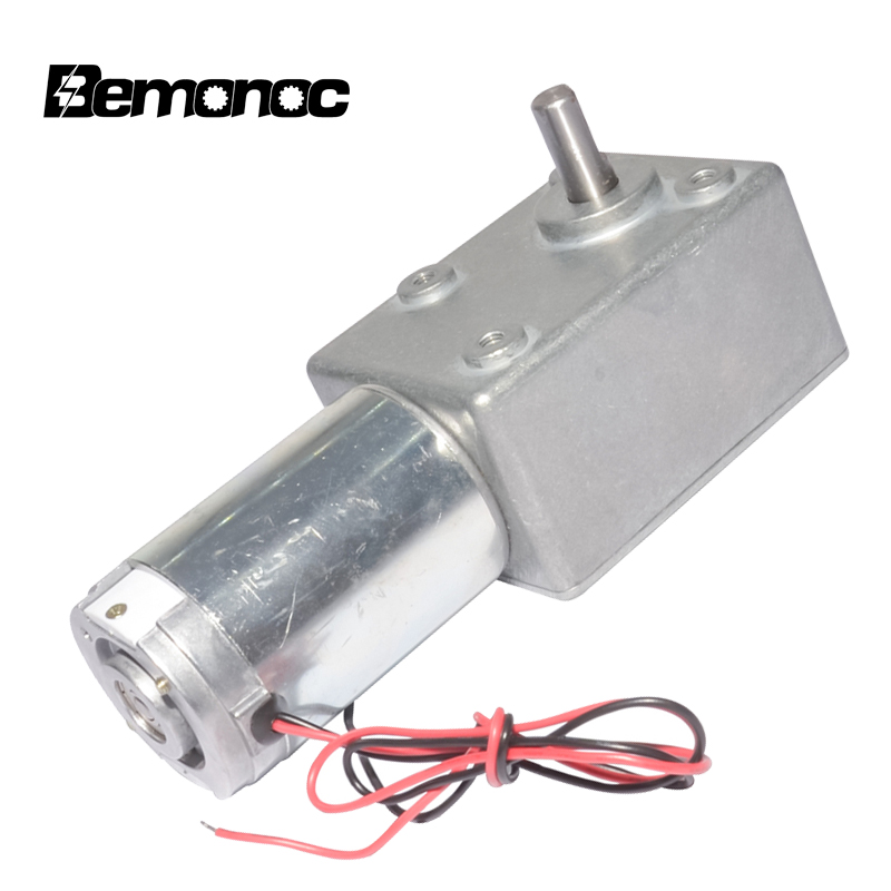 Bemonoc Dc Gear Motor 12v 24v 3-95rpm Dc Electric Bicycle Worm Gear Motor With Biaxial For Bbq Replacement Robot Parts 1&2 Axis Year-End Bargain Sale