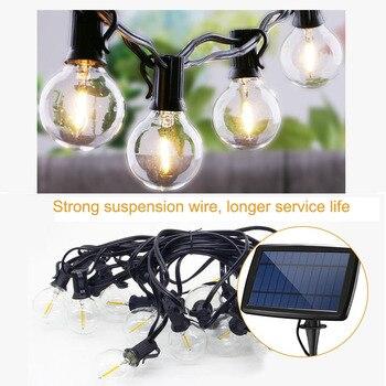 Solar Lights G40 LED 10 Lamp 25LED 2700K 4 Modes Waterproof Christmas Day Garden Horse Race Led Decorative Light Outdoor 6