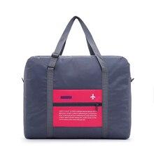 Купить с кэшбэком Fashion Luggage Travel Bag WaterProof Folding Bag Large Capacity Unisex Packing Women Nylon Travel Handbags Wholesale Price