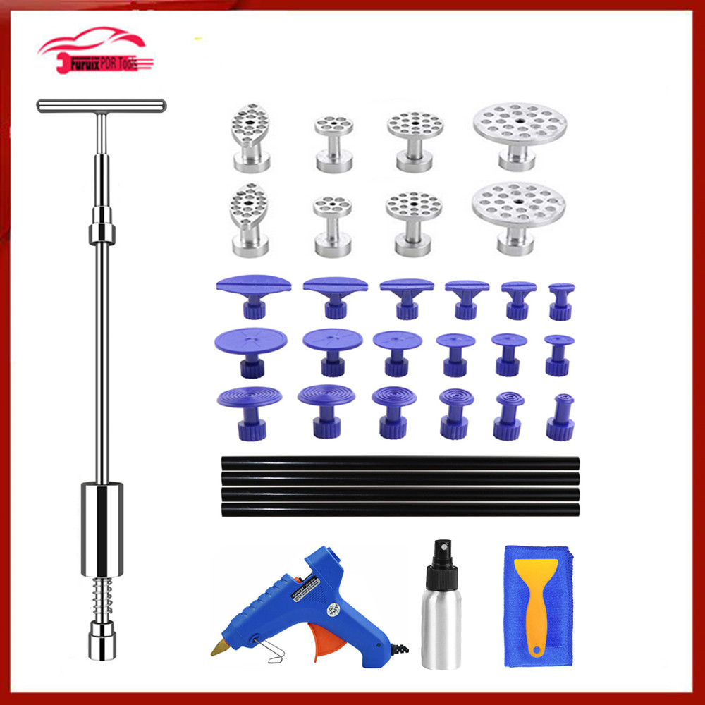 PDR Tools Dent De Réparation Dent Puller Kit Dent Removal Slide Hammer Glue Sticks Reverse Hammer Glue Tabs Car Hail Damage