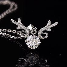 Moissaniteround s925 Серебряное ожерелье 200ct d vvs классическое