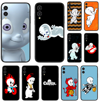 Cartoon Casper cute genius Phone case For Huawei Honor 6A 7A 7C 8 8A 8X 9 9X 10 10i 20 Lite Pro Play black hoesjes soft image