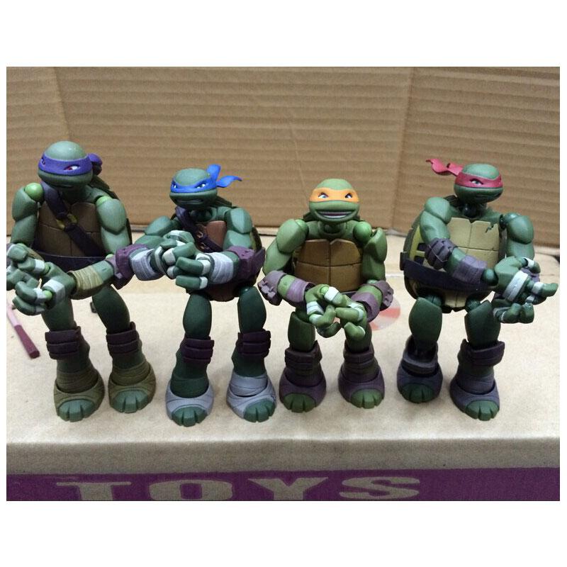 15CM Cartoon Movie Ninja Yamaguchi Turtle Model Leonardo Raphael Michelangelo Donatello PVC Action Figures Toy