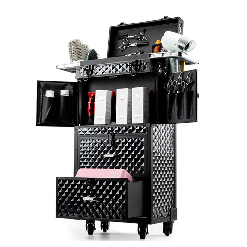 Image 4 - Professional Hairdressing rolling luggage Toolbox Salon Hairdresser trolley suitcase Beauty Salon Large Drawer ToolboxRolling Luggage   -