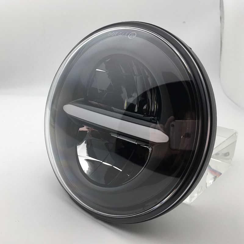 7 インチ車のライト led ヘッドライトのための lada 4 × 4 drl 7 ''ハローフロントヘッドランプ w/昼間ランニングライト jk 日産パトロール Y60