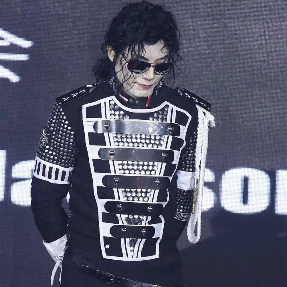 MJ MICHAEL JACKSON Star Military History Punk Teaser Germany FULL SET Jacket / Amour/Glove Performance