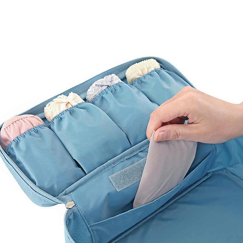 ผู้หญิงกระเป๋าเดินทาง Necessity อุปกรณ์เสริมชุดชั้นใน Bra Organizer เครื่องสำอางค์แต่งหน้าเคส