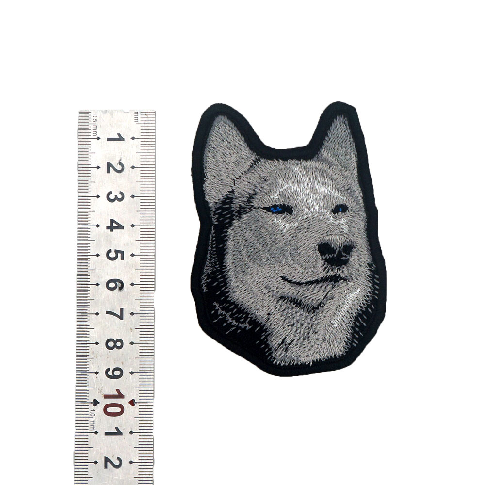 """1 3//4/"""" x 2/"""" German Shepherd Dog Breed Embroidery Patch"""