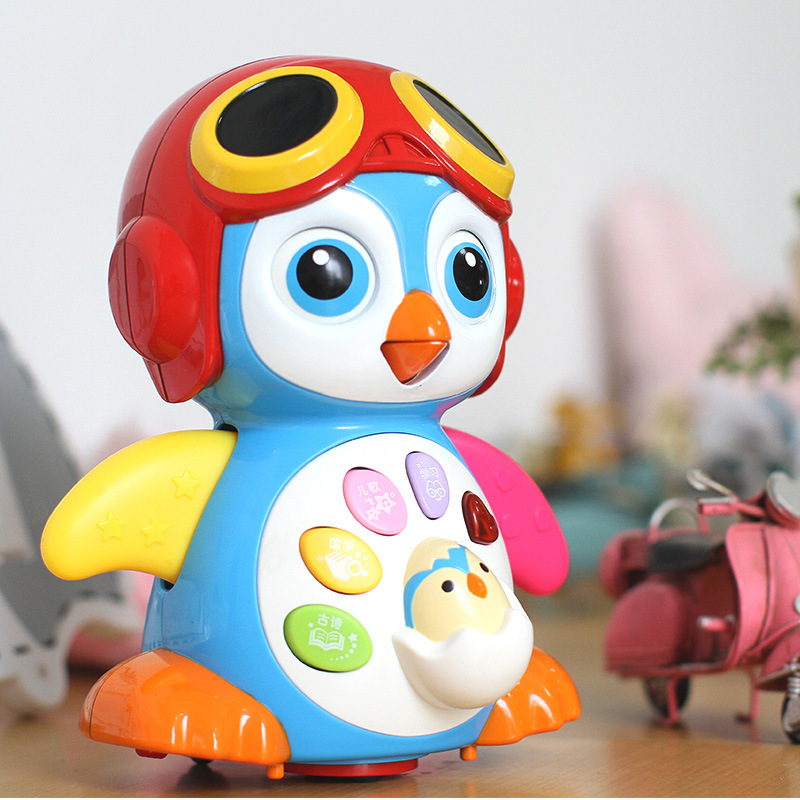 Spring Baby 9003 Sway Penguin Electric Universal Talking Music Dancing Early Childhood Infant Crawling Toy