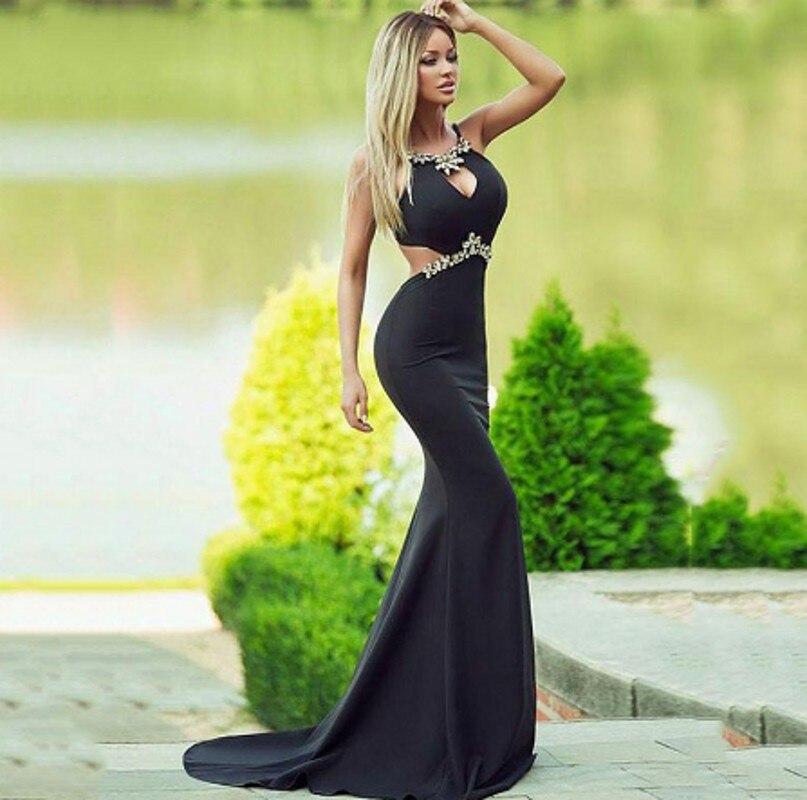 Robe de soirée de forme sirène noire