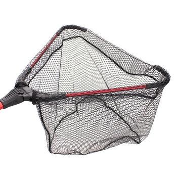 Amazing No.1 Folding Fishing Nets Triangular Aluminum Alloy Fishing Accessories cb5feb1b7314637725a2e7: 50cm 80cm