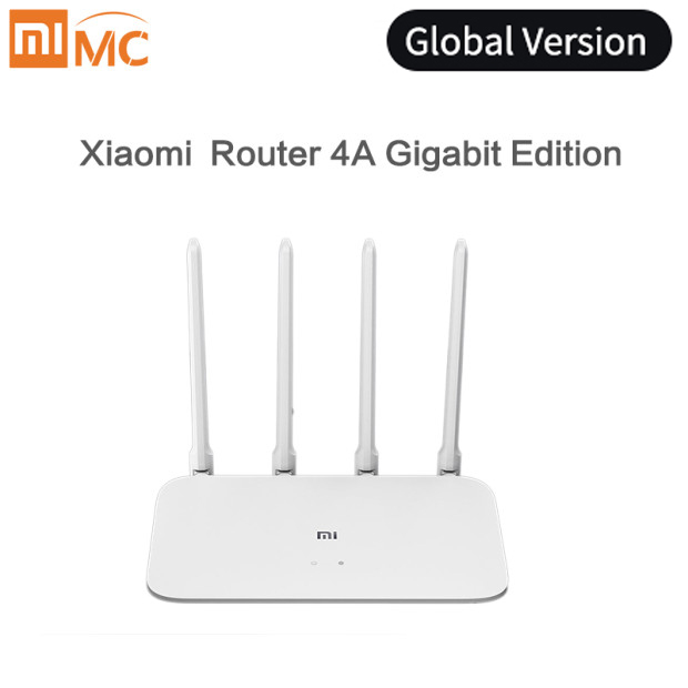 Versão global xiao mi roteador 4a gigabit edição 100 m 1000 m 2.4 ghz 5 ghz wifi rom 16 mb ddr3 64 mb 128 mb 4 antenas controle de aplicativo