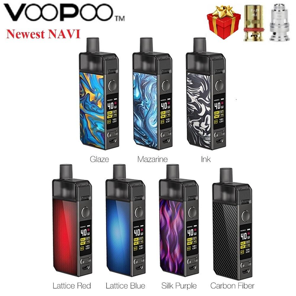 Original VOOPOO NAVI Pod Kit 1500mah Battery & 3.8ml Pod &  0.6ohm RBA Coil 0.8ohm PnP Mesh Coil Vape Pod Kit VS VINCI / VINCI X
