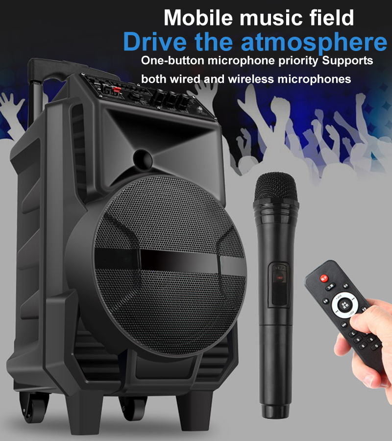 Портативный открытый Bluetooth динамик 8 дюймов беспроводной Bluetooth динамик высокой мощности большой аккумулятор для мобильных устройств Bluetooth тележка динамик|Всепогодные АС|   | АлиЭкспресс
