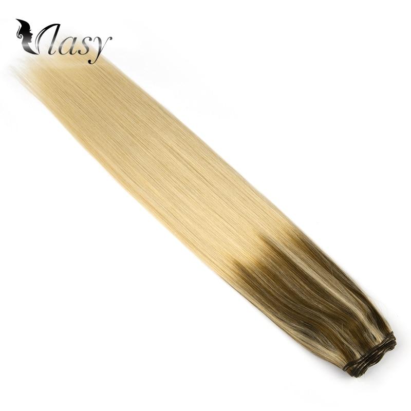 Vlasy 22'' Double Drawn Human Hair Weft 100g Remy Hair Bundles Weave Newest Balayage Color Milkshake & Cinnamon Salon Style