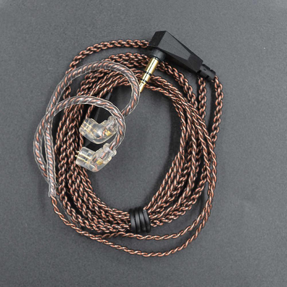 חוט אוזניות כבל ייעודי שדרוג אודיו מעשי 0.75mm 2 פין L תקע אביזרי נחושת צליל עמיד מצופה עבור KZ ZS5 6