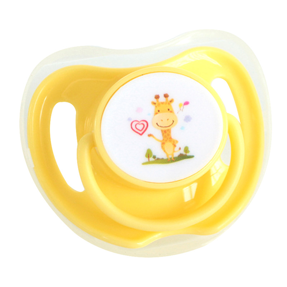 Infant Silicone Pacifier Dummy Nipple Soother Soft With Lid Comfortable Gift NSV775