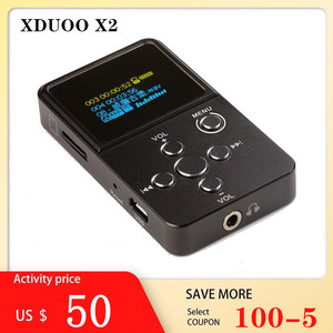 XDuoo X2 Bluetooth музыкальный плеер HiFi мини музыкальный плеер цифровой аудио плеер DAP поддерживает MP3 bluetooth усилитель наушников