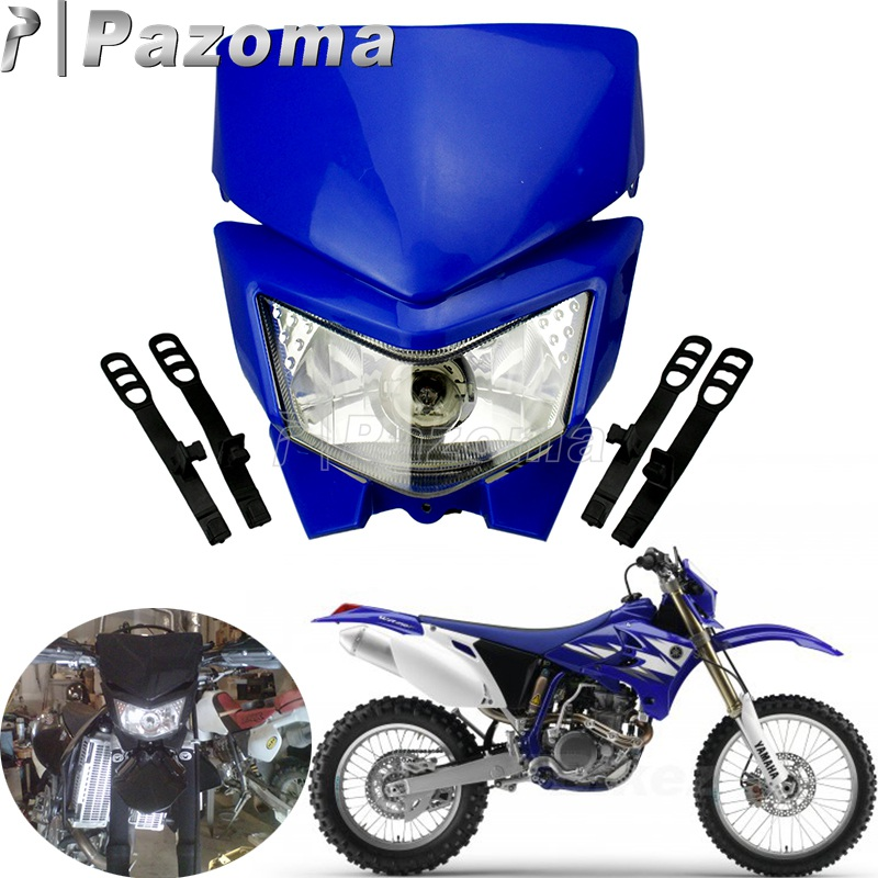 Universal Dirt Bike Front Fender Plastic For Yamaha TTR 125 225 XT225 YZ 125 250 YZF 250 426 WR250F Motocross Off Road Blue