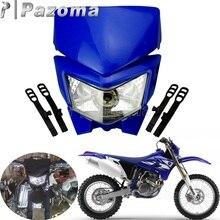 Enduro – phare de Motocross pour Honda, pour Yamaha TTR 125 230 250R 250L XT225 250 350 600 YZ125 360 85 250F 450F DRZ WR DRZ KX KLX KLR