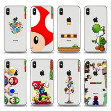 Super mario bros Flexivel Telefone Soft phone silicone TPU Fundas Cover Case Coque Para o iphone 4 5 6 7 8 X plus Xmax XR XS(China)